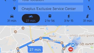Google Maps con rutas para motos