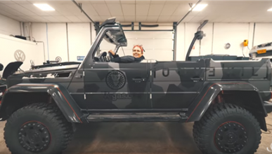 El Mercedes G500 4x4² descapotable de Jon Olsson