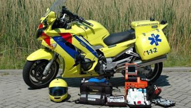 Posible moto medicalizada de la Comunidad de Madrid