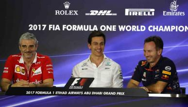 Toto Wolff, Arrivabene y Horner