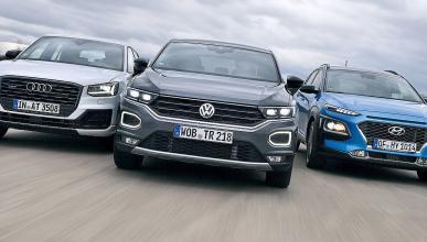Volkswagen T-Roc vs Audi Q2 y Hyundai Kona