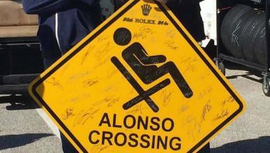 Alonso crossing (Daytona)