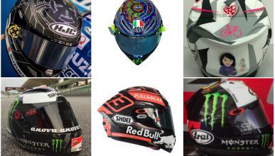 Los cascos de los pilotos de MotoGP para los test de pretemporada