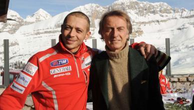 Valentino Rossi y Di Montezemolo