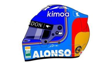 Casco de Alonso F1 2018