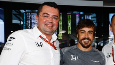 Eric Boullier y Fernando Alonso