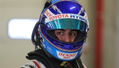 Fernando Alonso prueba el Toyota TS050 Hybrid para Le Mans