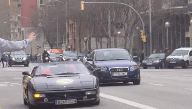 Ferrari en Barcelona para que uses un taxi