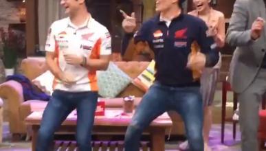 Marc Márquez bailando en la televisión de Indonesia