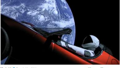 Los mejores memes del tesla Roadster que vaga por el espacio