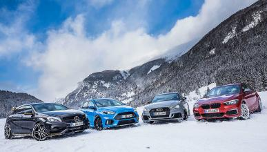 Audi RS 3, BMW M140i, Ford Focus RS y Mercedes-AMG A 45