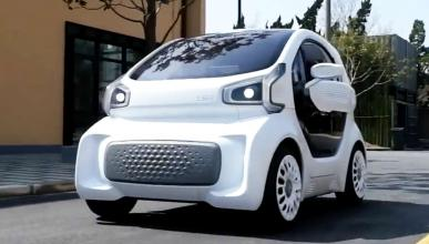 coche eléctrico impreso en 3D