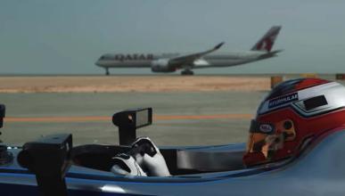 Formula E frente a avion