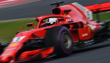 Sebastian Vettel en los test de Barcelona
