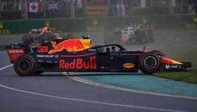 Trompo de Verstappen en el GP Australia 2018