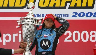Victoria de Danica Patrick en la Indy en 2008
