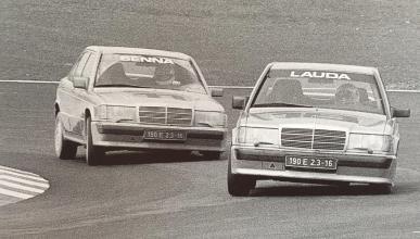 Mercedes 190E con el que Niki Lauda pilotó en Nürburgring