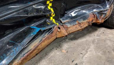 corrosion oxidado mazda 6 euroncap prueba choque