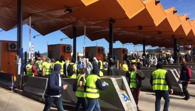 Protestas independentistas en los peajes de Cataliña