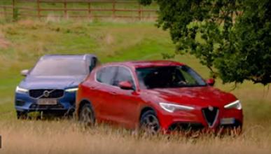 Volvo XC60 vs. Alfa Stelvio Race