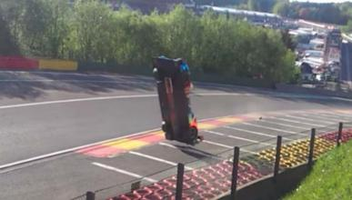 Accidente Isaakyan LMP1 Spa