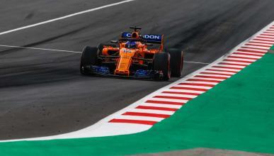 Alonso, en el GP España 2018
