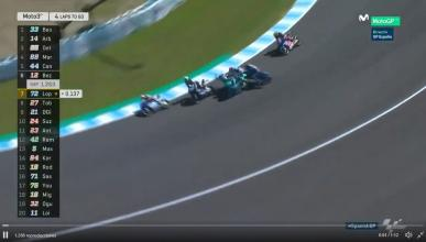 Canet se lleva por delante a Martín, Bastianini y Arbolino en Jerez