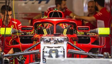 Retrovisores en el Halo de Ferrari