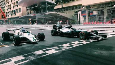 Los Rosberg ruedan juntos en Mónaco