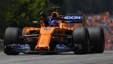 Alonso en la clasificación del GP Austria