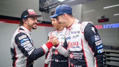 Alonso y compañeros