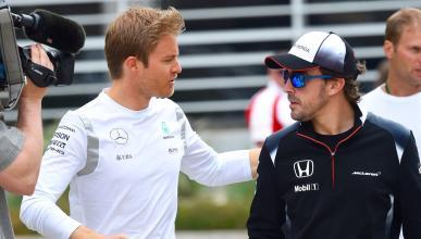 Alonso y Rosberg