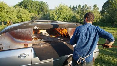 Coche horno para pizza