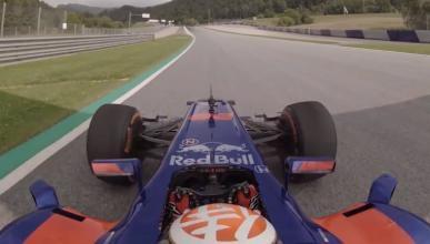 Dani Pedrosa pilota el Red Bull de F1