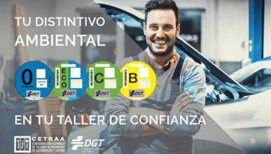 Etiquetas DGT en los talleres