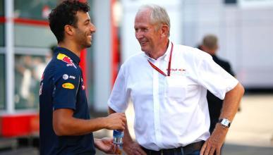 Helmut Marko y Daniel Ricciardo