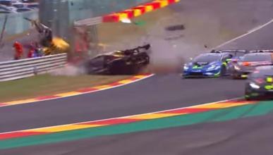 Accidente en Lamborghini Trofeo en Spa-Francorchamps