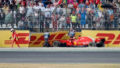 Accidente de Vettel en Alemania