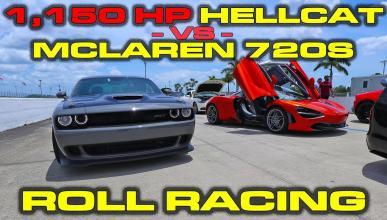 Challenger Hellcat McLaren 720S
