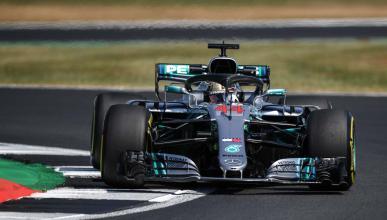 Hamilton en el GP de Silverstone