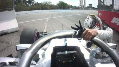 Lewis Hamilton en el GP de Alemania