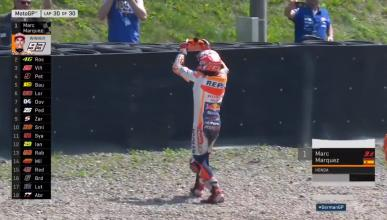 Márquez se acuerda de Dani Pedrosa en su victoria de Sachsenring
