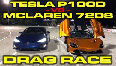 McLaren 720S contra Tesla Model S P100D