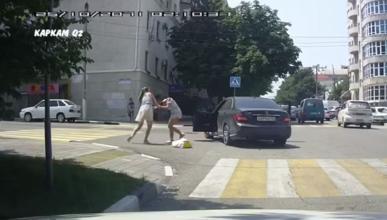 pelea mujeres altercado tráfico