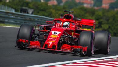 Sebastian Vettel en los Libres 3 de Hungria