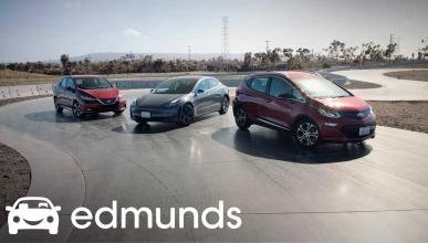 Tesla Model 3, Nissan Leaf y Chevrolet Bolt
