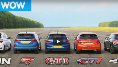 VÍDEO: Mega 'drag race': Polo GTI, Fiesta ST, Mini JCW, Yaris GRMN, 208 GTi