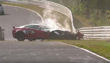 accidente corvette nurburgring