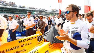 Alonso test Indy