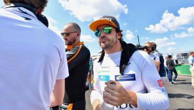 Fernando Alonso en la parrilla de F1